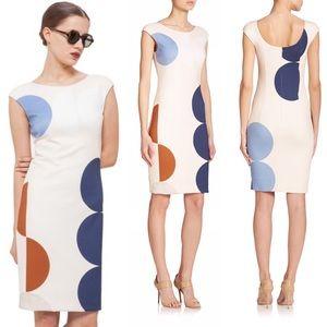 • Akris Punto • Dot Print Jersey Sheath Dress